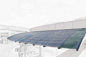verriere-photovoltaïque-cintree